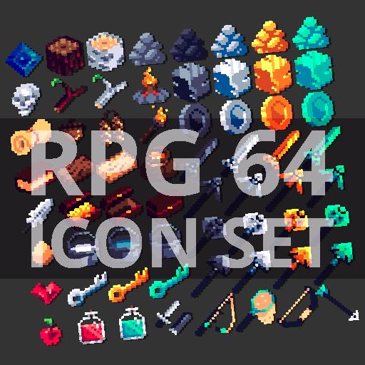 RPG 64 ICON SET