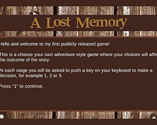 A Lost Memory