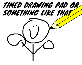 Timed Drawing Pad or something