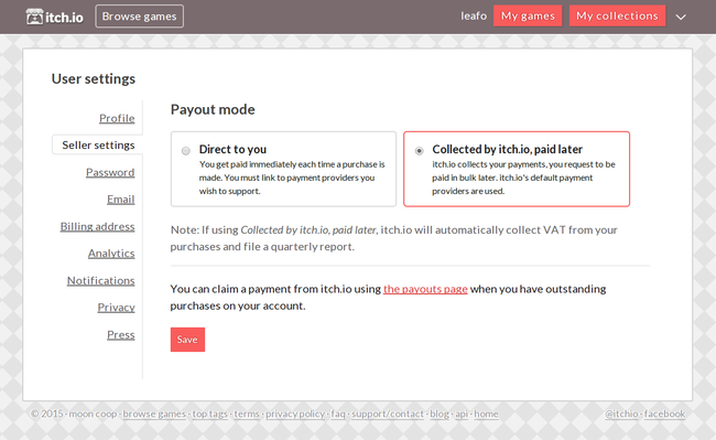 A new payout system and an update to handling VAT - itch io