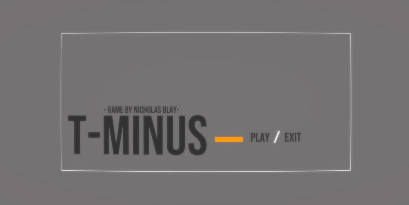 T-minus —