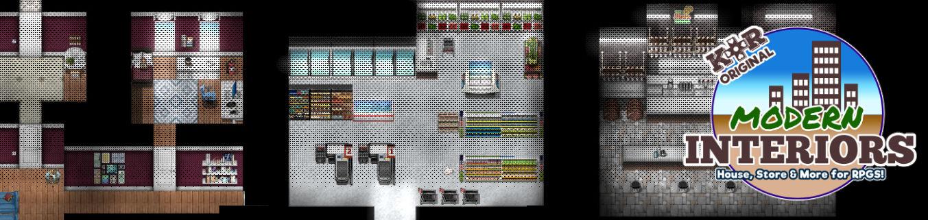 KR Urban Modern Interiors Tileset for RPGs
