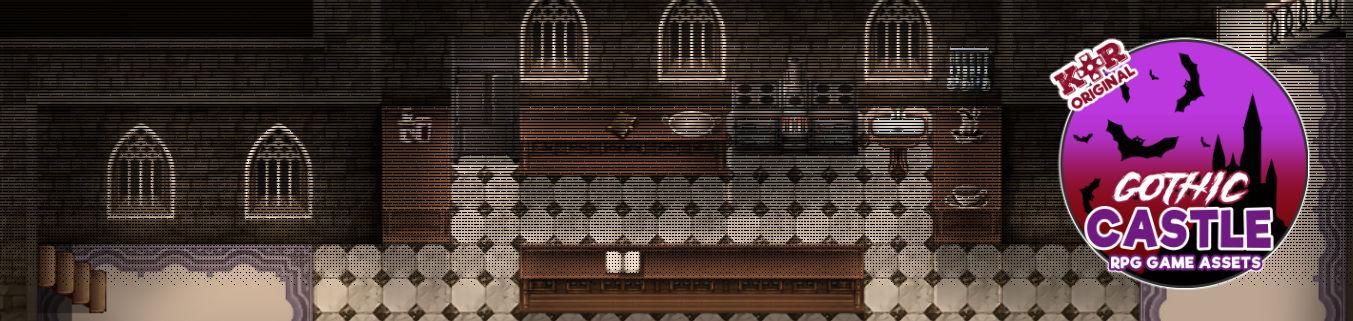 KR Gothic Castle Tileset for RPGs