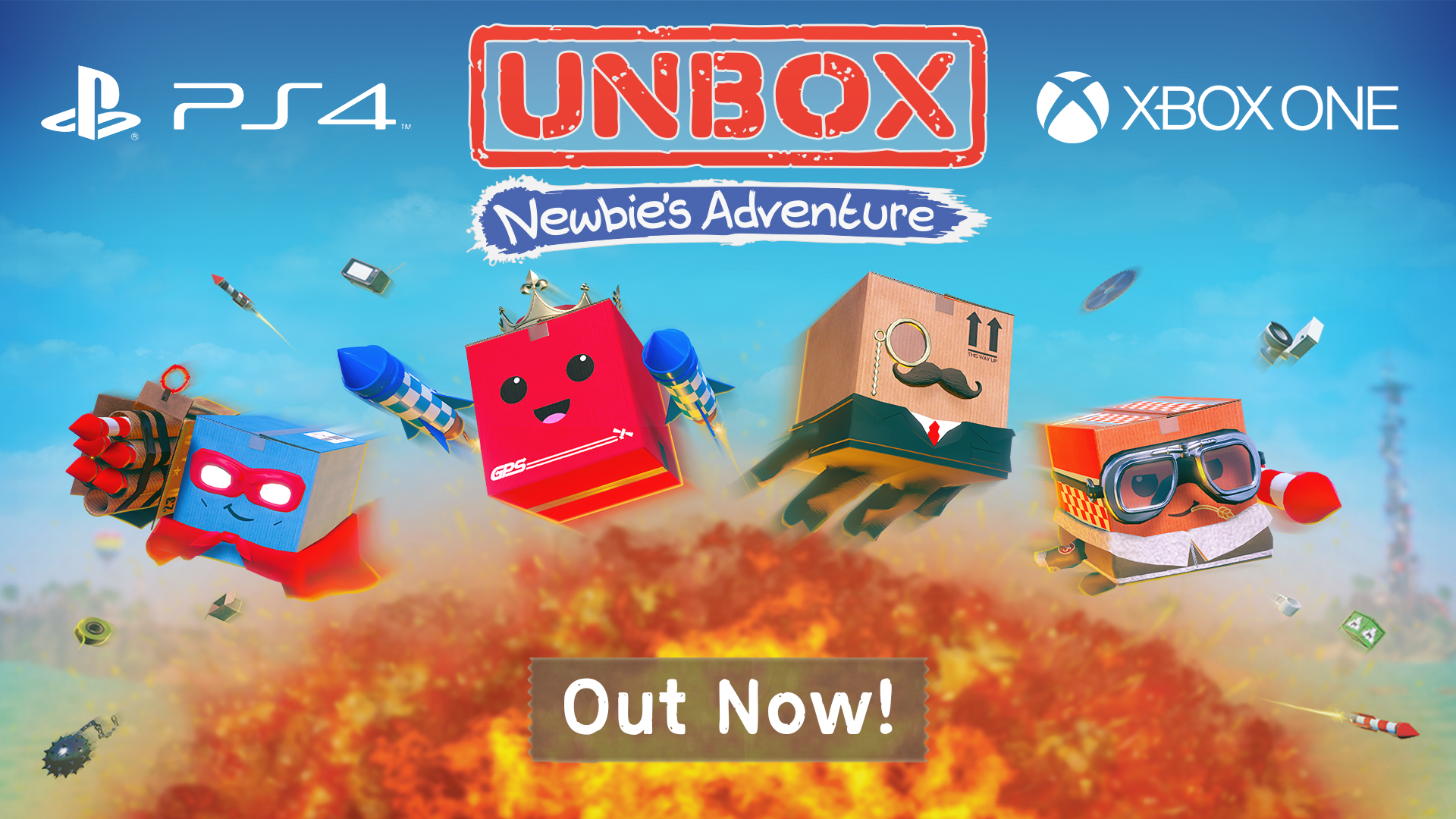 3D platformer Unbox: Newbie's Adventure - Out now on PS4