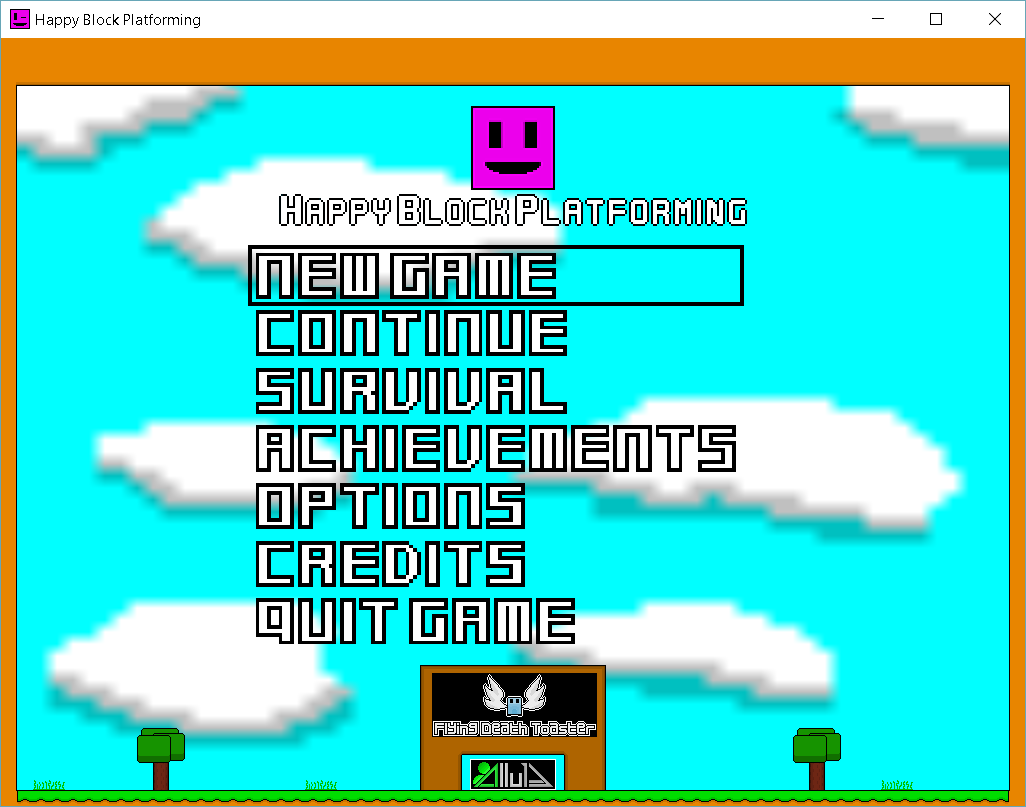 New main menu