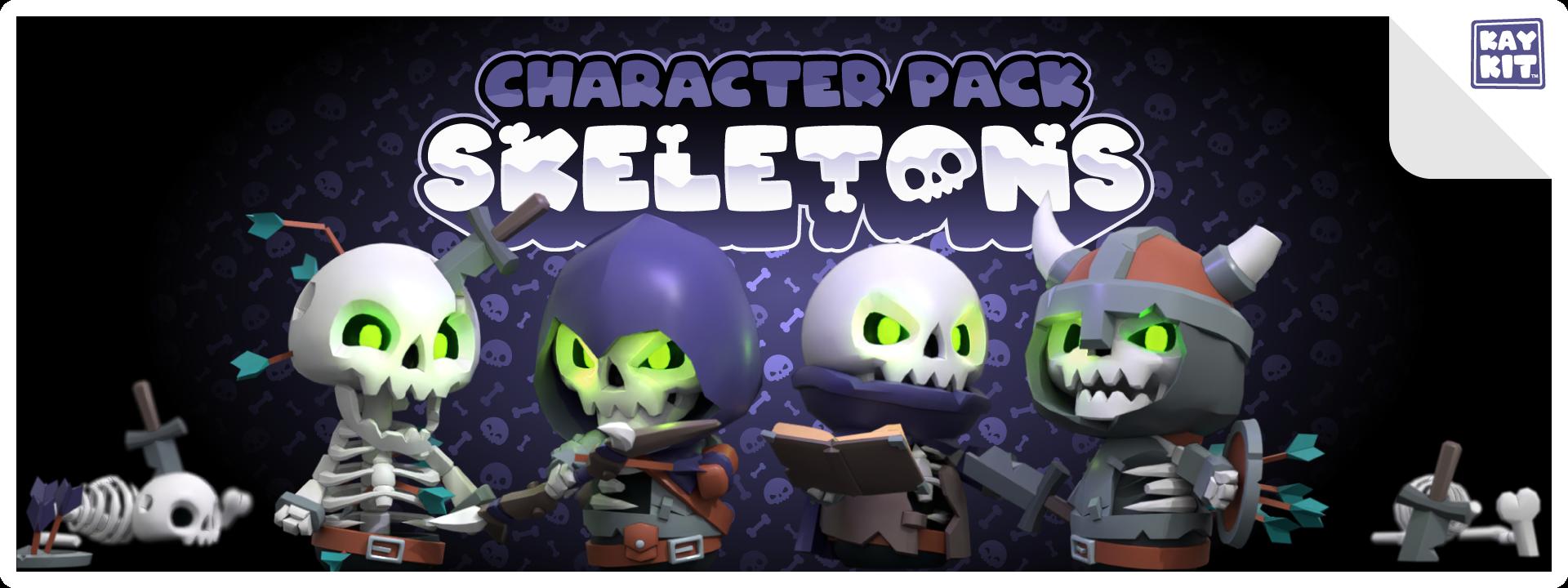 KayKit - Character Pack : Skeletons