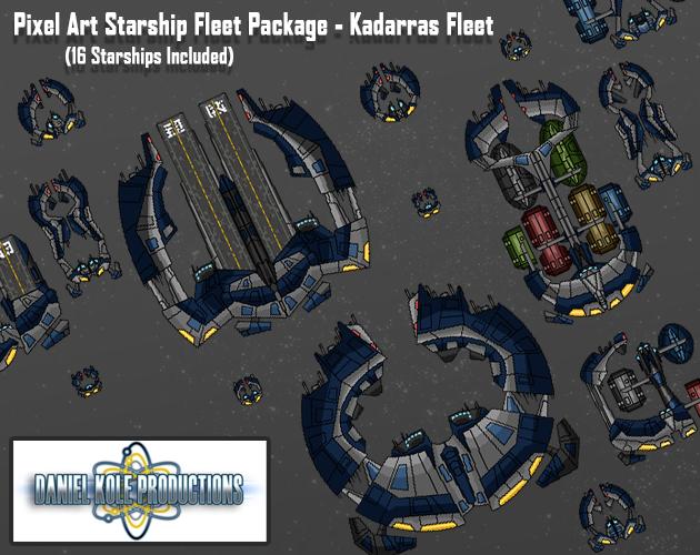 Pixel Art Starship Fleet Package - Kadarras Fleet