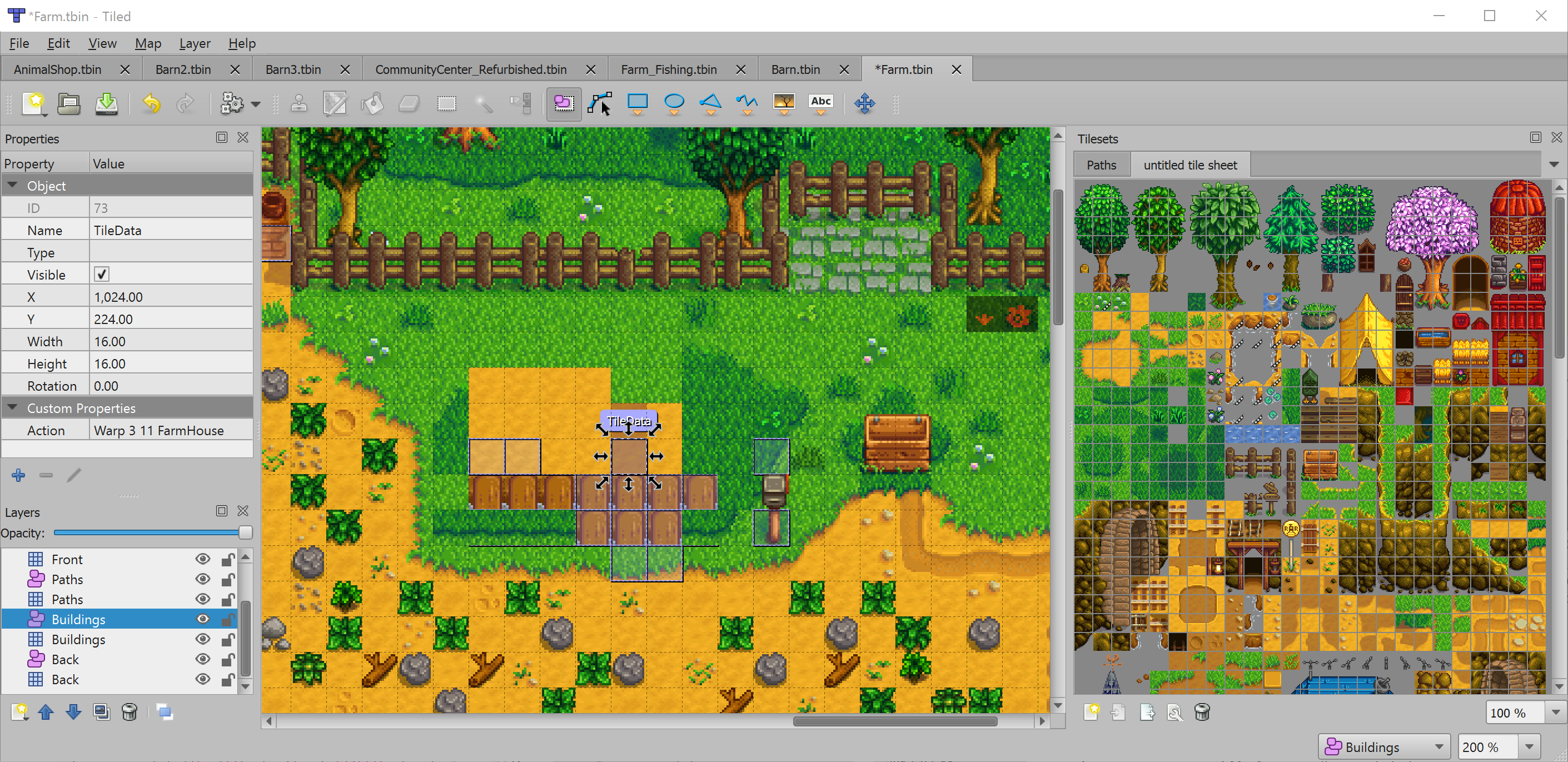 Stardew Valley Modding Update and Other Stuff - Tiled Map