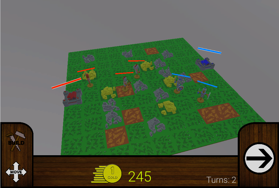 Random terrain generation