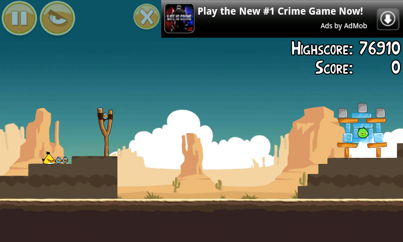 Angry Birds Gameplay Banner Ad
