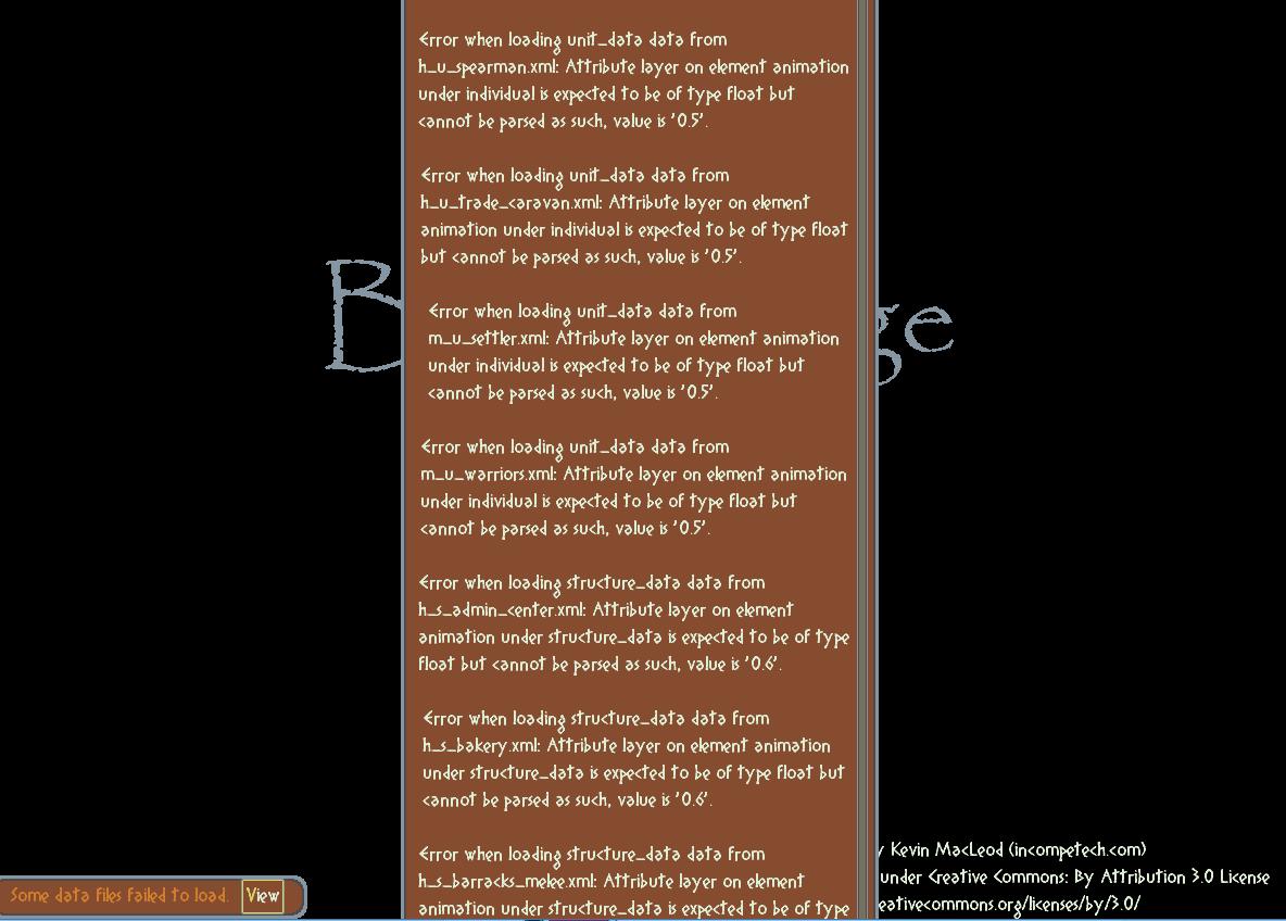 Bug Reports - Bronze Age community - itch io