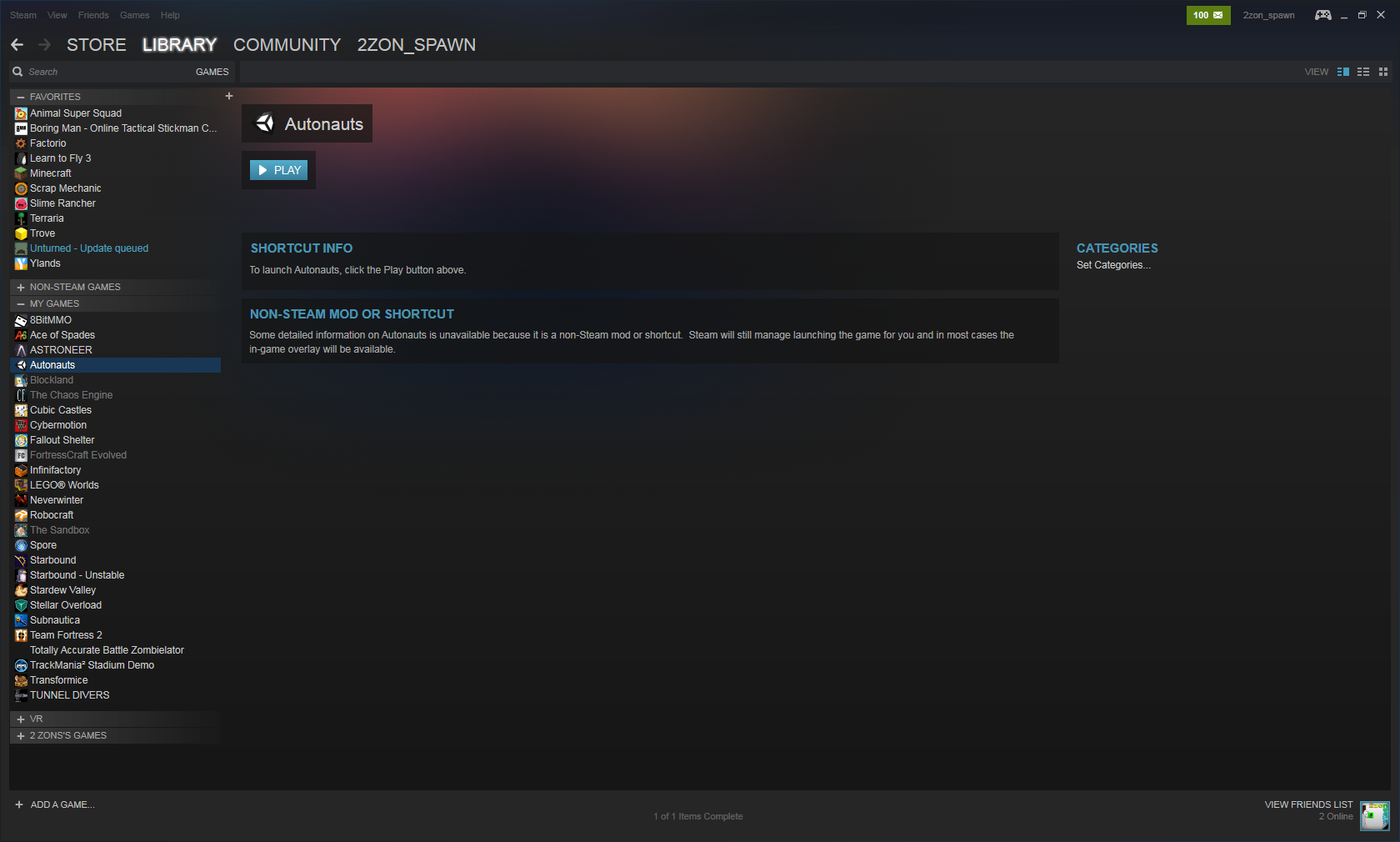 Adding Autonauts to your Steam Library, and icon creation