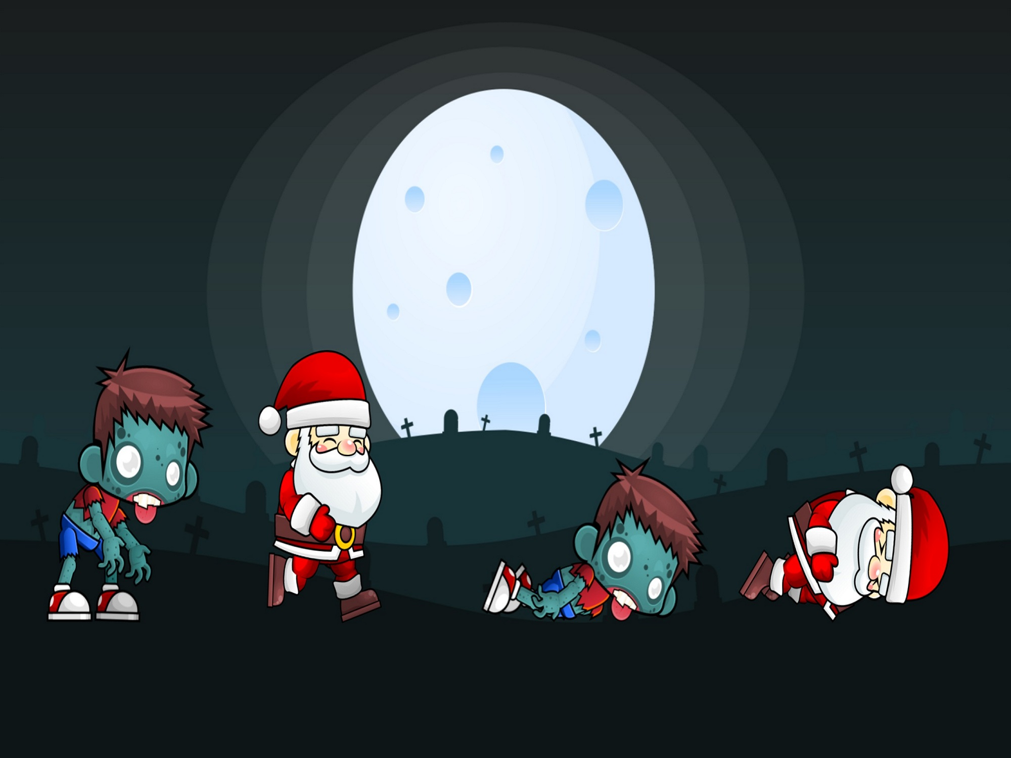 Zombies are after the Santa