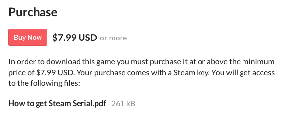Is it appropriate to sell just a Steam Key with no download