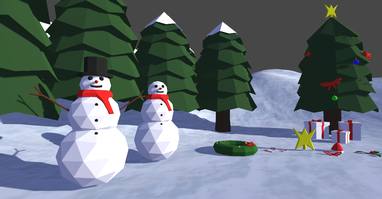 Free Low Poly Christmas Pack by Jannie