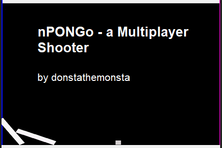 nPONGo - a Multiplayer Shooter