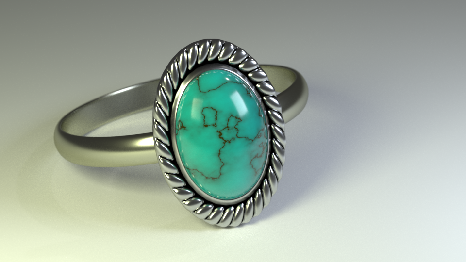 Photo-Realistic Ring Made in Blender