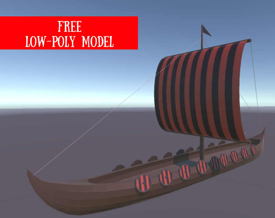 Viking Ship Free Model