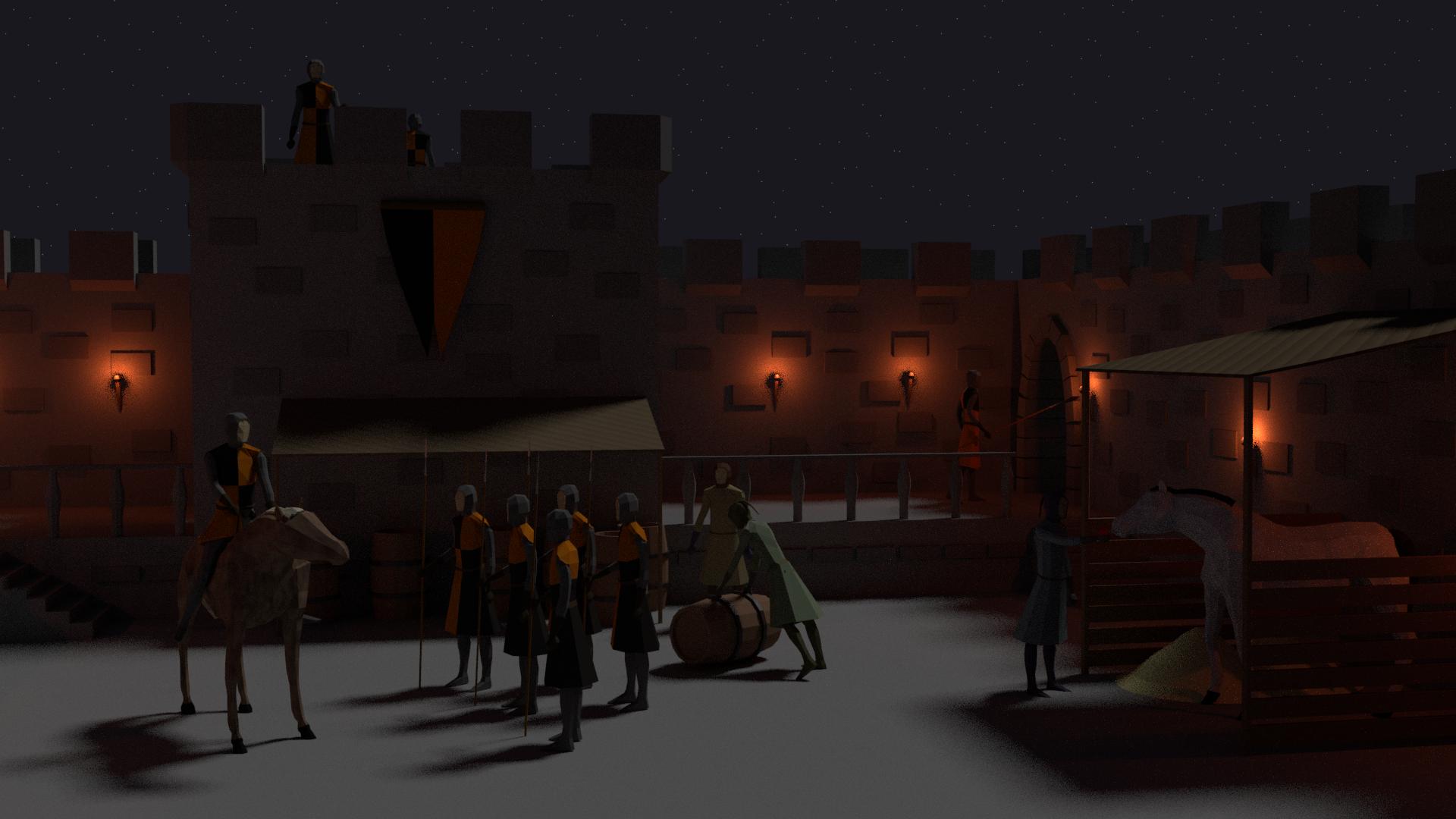 Medieval Environment Rendered in Blender