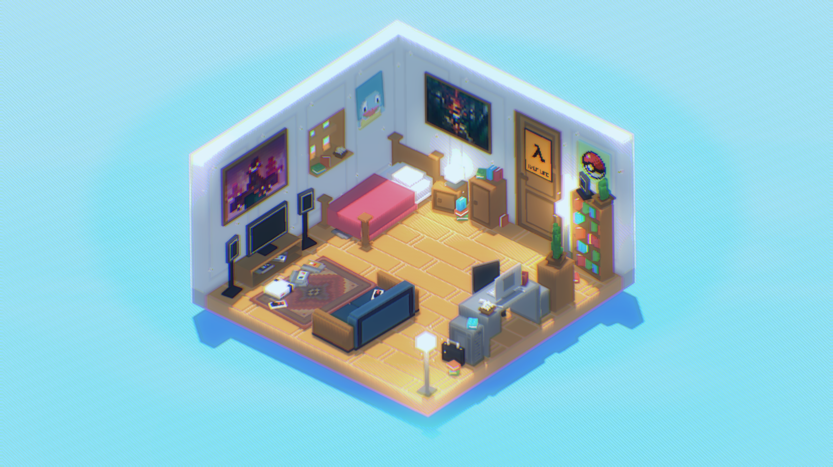 Interior House & Office Assets - Voxel