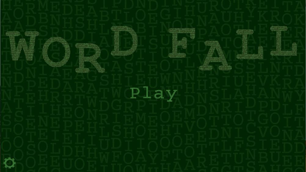 Word Fall Main Screen