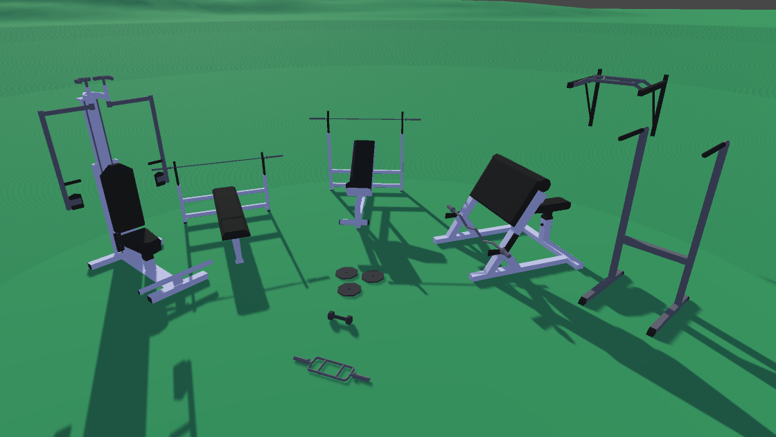 Free Low Poly Gym Pack by Jannie