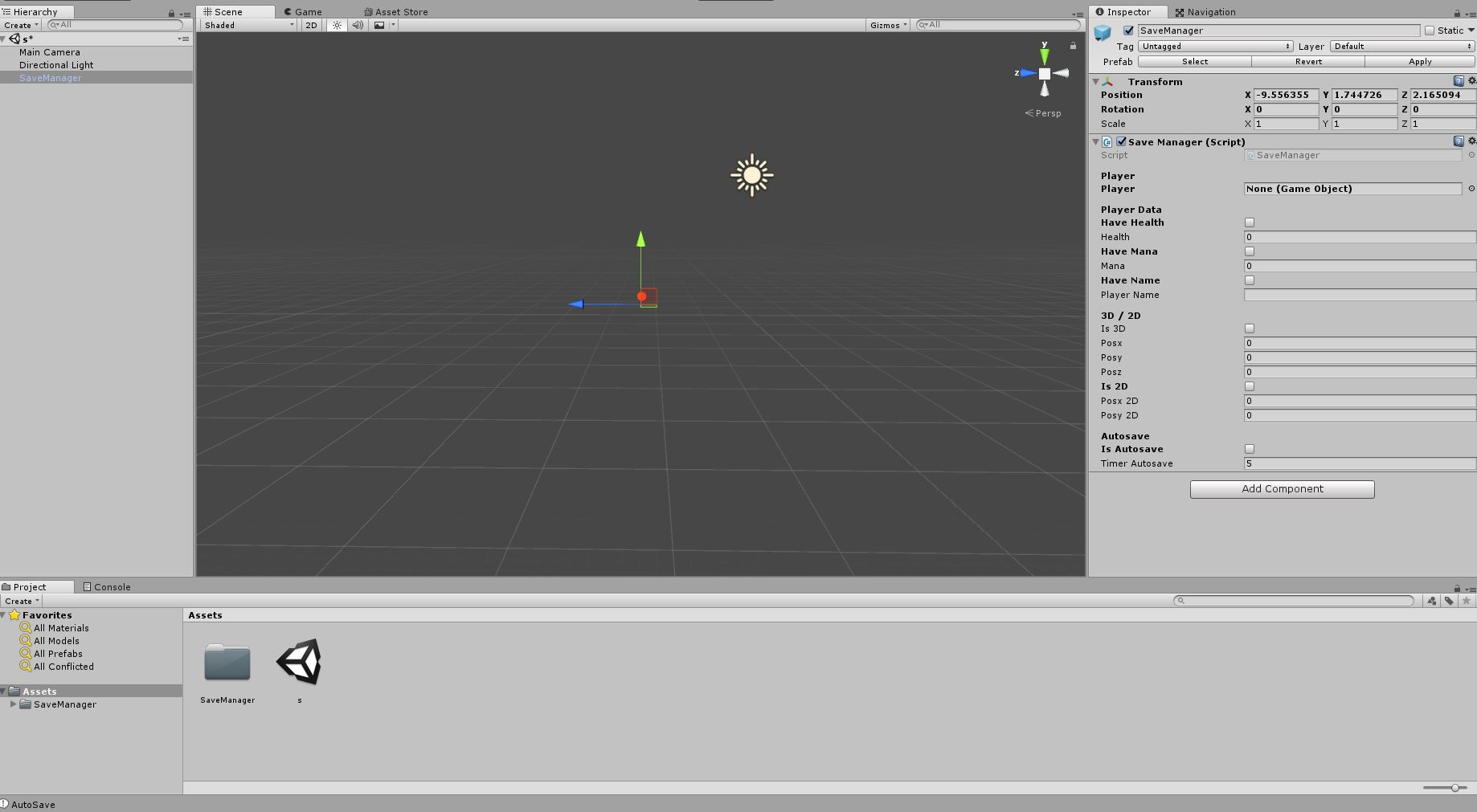 Basic Save Manager for Unity
