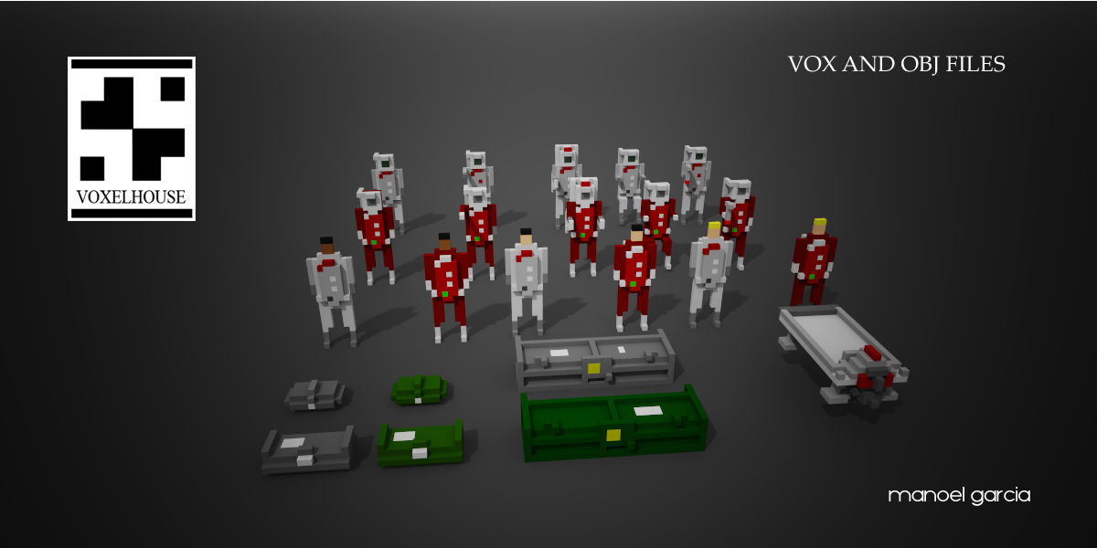 Voxel Astronauts