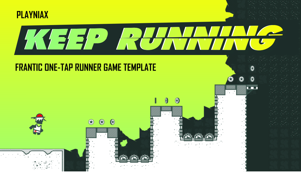Keep Running game template for Pyro