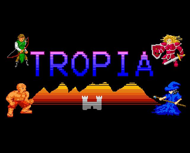 Tropia Splash Page