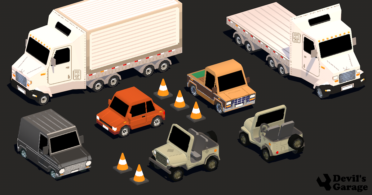 Low Poly Pixel3d Vehicles - Devils Work.shop